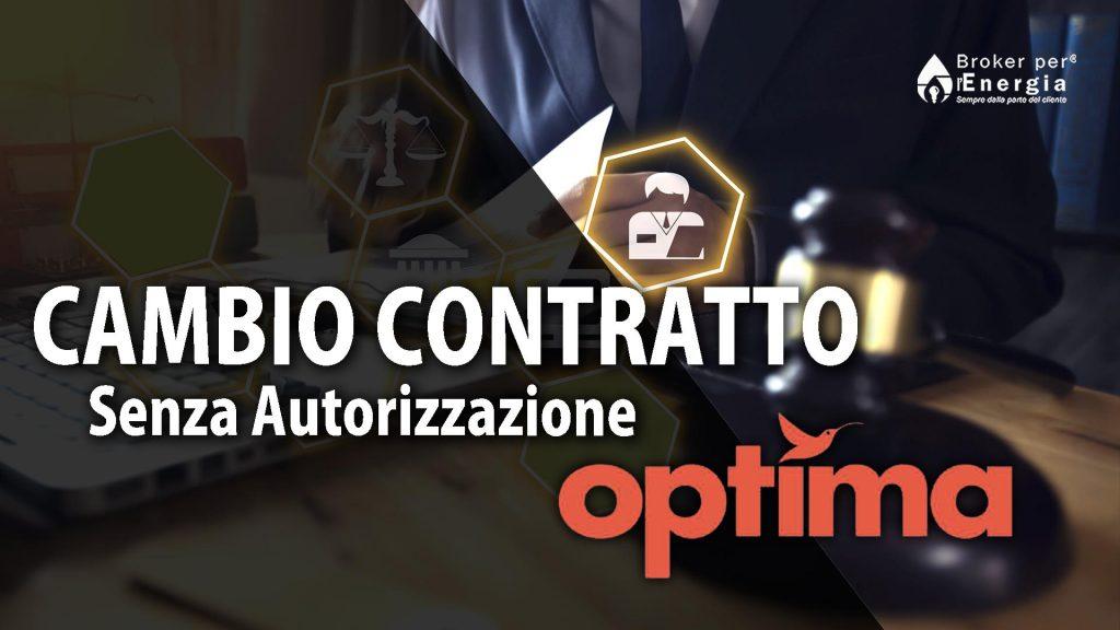 Cambio Contratto Optima Senza Autorizzazione